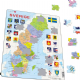Political Map of Sweden / Sverige - Frame/Board Jigsaw Puzzle 29cm x 37cm (LRS  A7-SE)